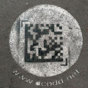 Flashcode sur le trottoir à l'Opera