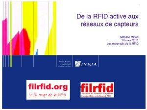 De la RFID active aux réseaux de capteurs