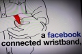 A Facebook connecter wristband