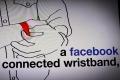 A Facebook connecter wristband