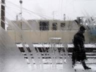 Vue du Transilien en hiver