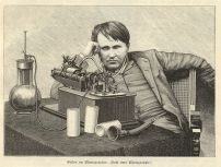 Thomas Edison et son phonographe