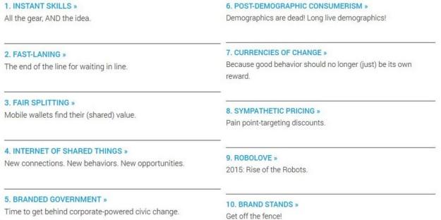 Top 10 Trends Trendwatching