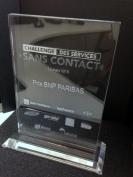 """Trophée """"Challenge sans contact"""""""