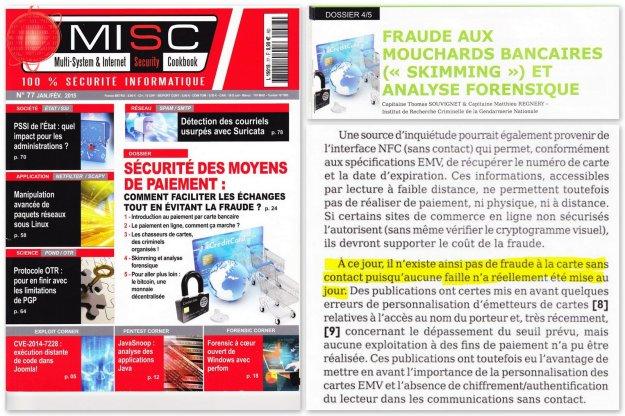 Misc Magazine 77 - Dossier sécurité des moyens de paiement