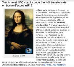 Tourisme et NFC – La Joconde bientôt transformée en borne d'accès WiFi ?