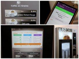 Une machine à café NFC HCE chez OBS