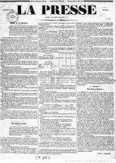La presse, 15 juin 1836