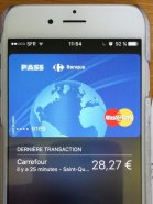 Paiement sans contact Carrefour Pass sur Apple Pay
