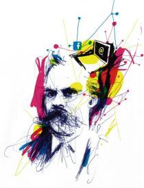 Portrait de Nietzsche (c) Seb Jarnot pour Philosophie magazine