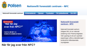 NFC for Nationellt Forensiskt Centrum