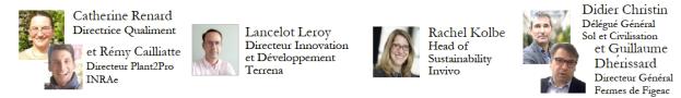 Intervenants panel innovation et agriculture